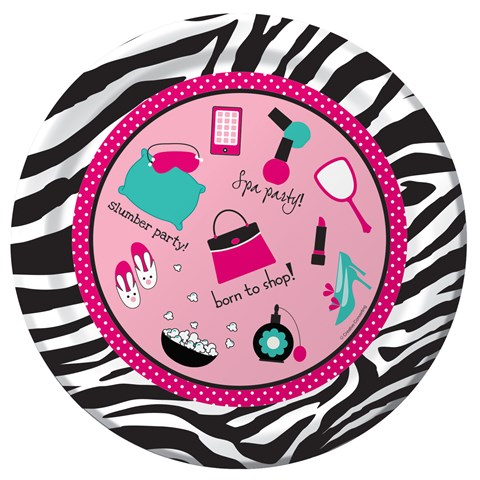 Pink Zebra Boutique Icons Dinner Plates