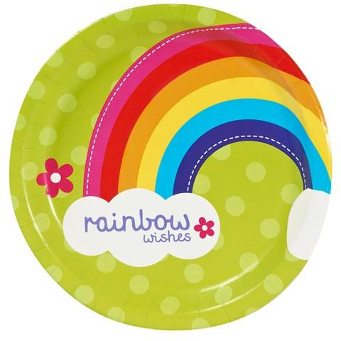 Rainbow Wishes Dinner Plates