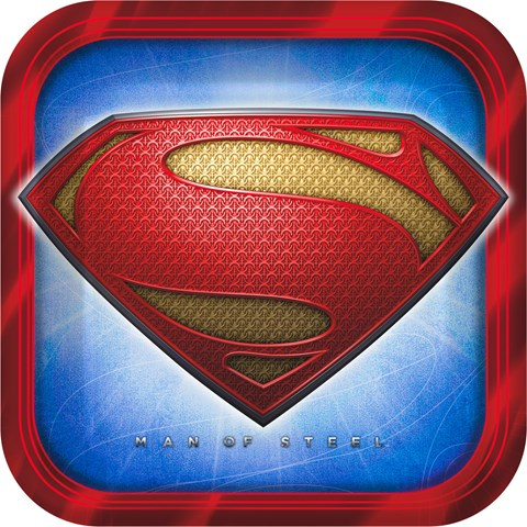 Superman: Man of Steel Square Dinner Plates