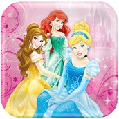 Disney Very Important Princess Dream Party Square Dinner Plates