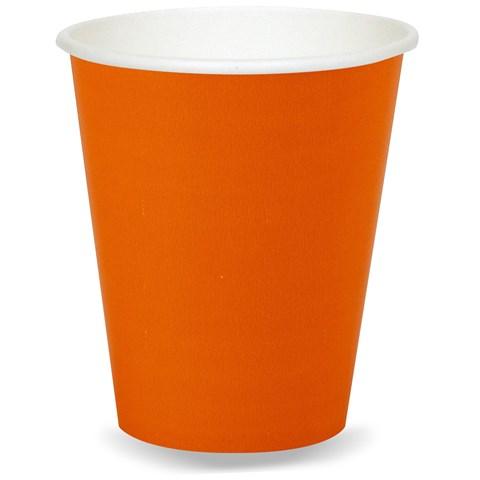 Sunkissed Orange (Orange) 9 oz. Paper Cups