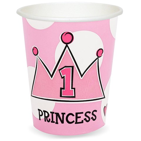 Birthday Princess 1st - 9 oz. Cups