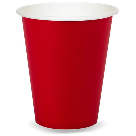 Classic Red (Red) 9 oz. Paper Cups