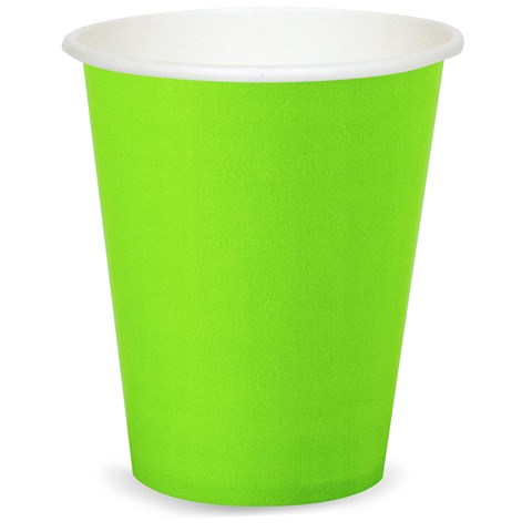 Fresh Lime (Lime Green) 9 oz. Paper Cups