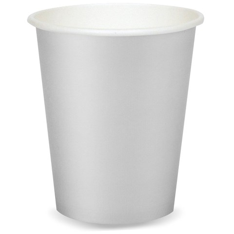 Shimmering Silver (Silver) 9 oz. Paper Cups