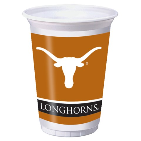 Texas Longhorns 20 oz. Plastic Cups