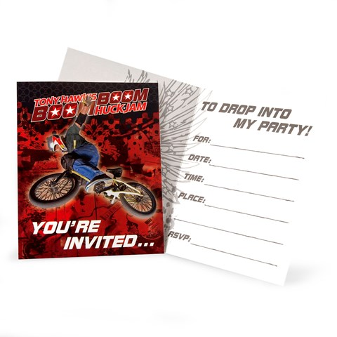 Tony Hawk's New Boom Boom HuckJam  Invitations