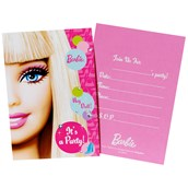 Barbie All Doll'd Up Invitations
