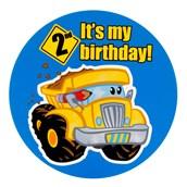 Construction Pals 2nd Birthday Invitations