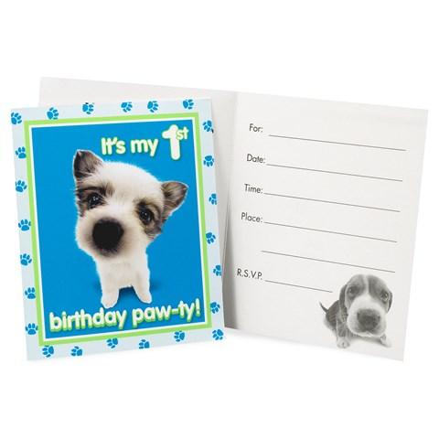 THE DOG 1st Birthday Invitations
