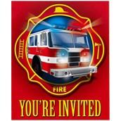 Fire Trucks Invitations