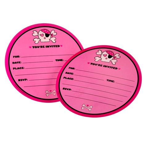 Pink Skull Invitations