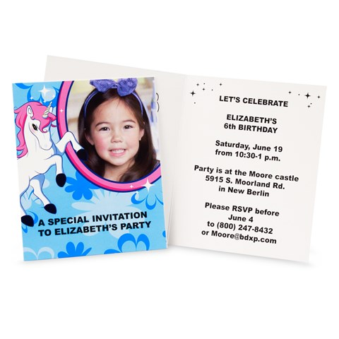 Enchanted Unicorn Personalized Invitations