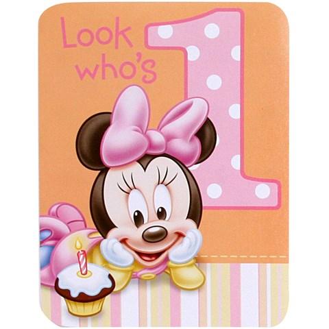 Disney Minnie's 1st Birthday Invitations