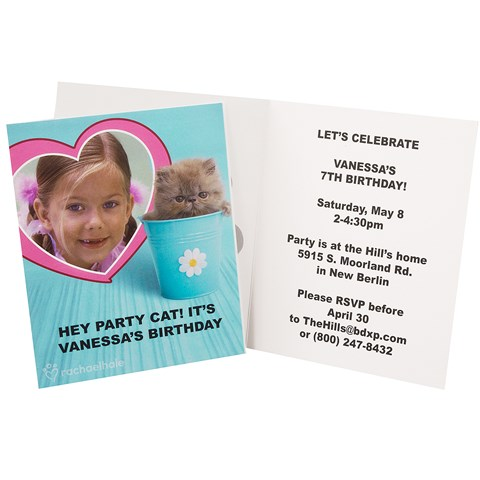 rachaelhale Glamour Cats Personalized Invitations