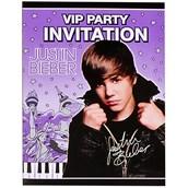 Justin Bieber Invitations