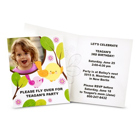 Sweet Tweet Bird Pink - Personalized Invitations