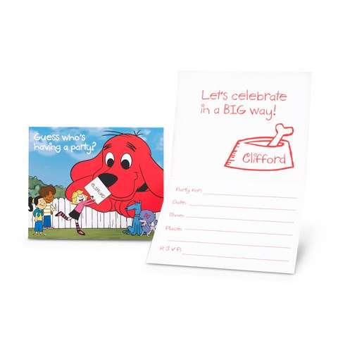 Clifford The Big Red Dog - Invitations