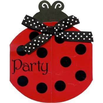 LadyBug Fancy Invitations