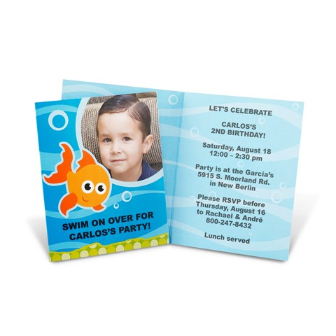 Goldfish Personalized Invitations