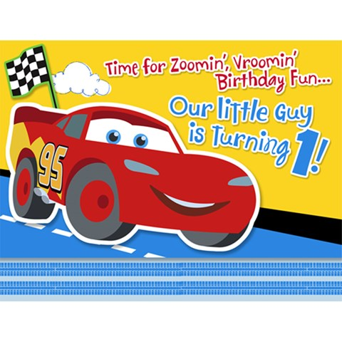 Disney 1st Birthday Cars Invitations