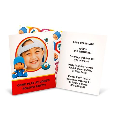 Pocoyo Personalized Invitations