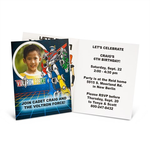 Voltron Force Personalized Invitations