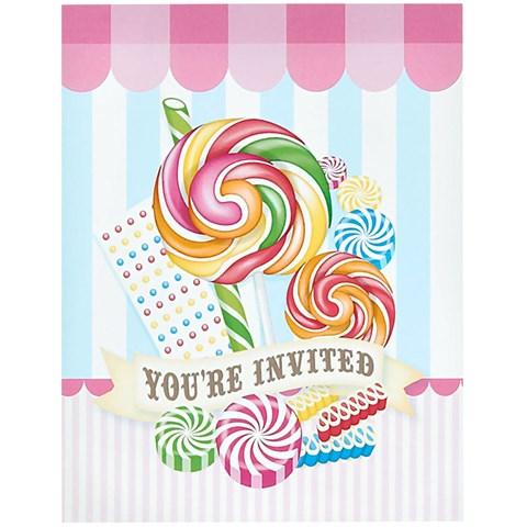 Candy Shoppe Invitations