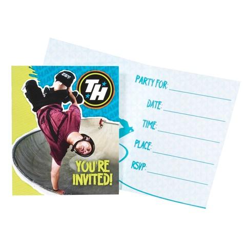 Tony Hawk Skatepark Series Invitations