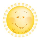 Little Sunshine Party Invitations