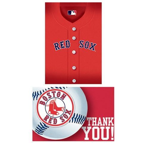 Boston Red Sox Baseball - Invite & Thank-You Combo