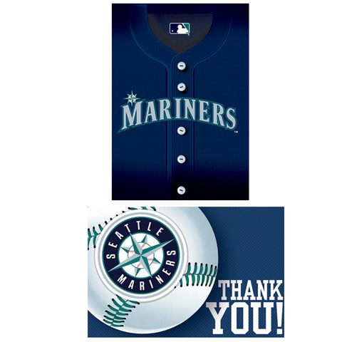 Seattle Mariners Baseball - Invite & Thank-You Combo