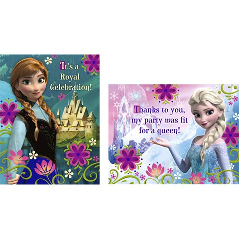 Disney Frozen - Invitations & Thank-You Postcards (8 each)