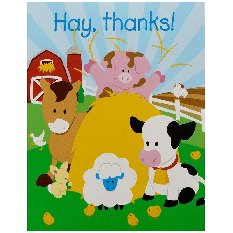 Barnyard Thank-You Notes (8)
