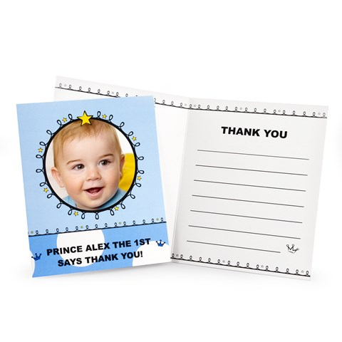 Lil' Prince 1st Birthday Personalized Thank-You Notes