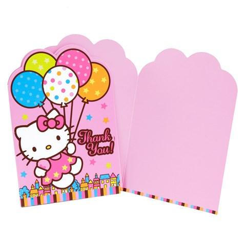 Hello Kitty Balloon Dreams Thank-You Notes