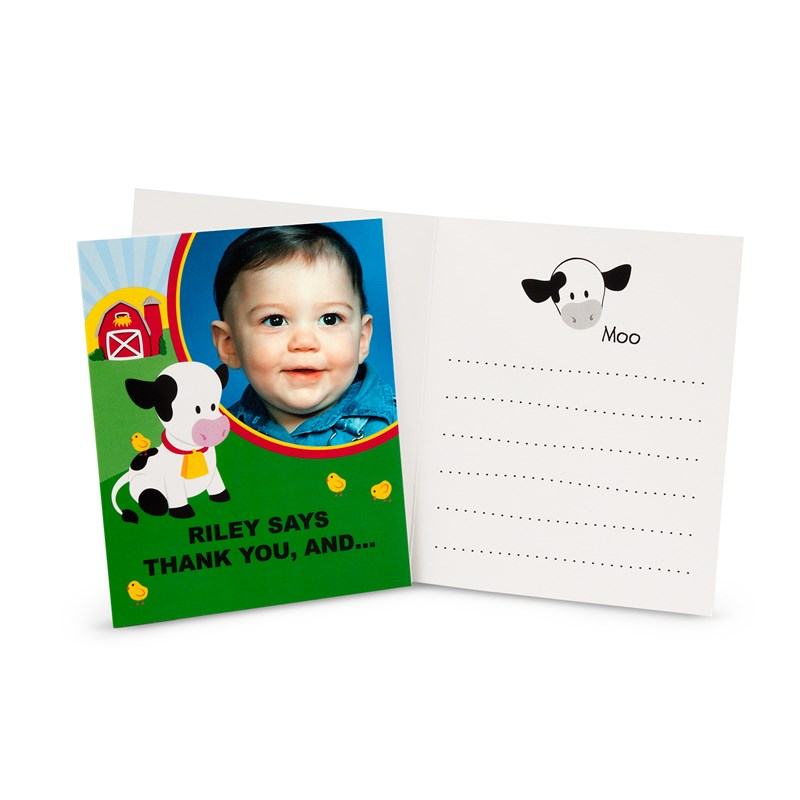 Barnyard 1st Birthday Personalized Thank-You Notes