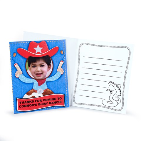 Cowboy Personalized Thank-You Notes
