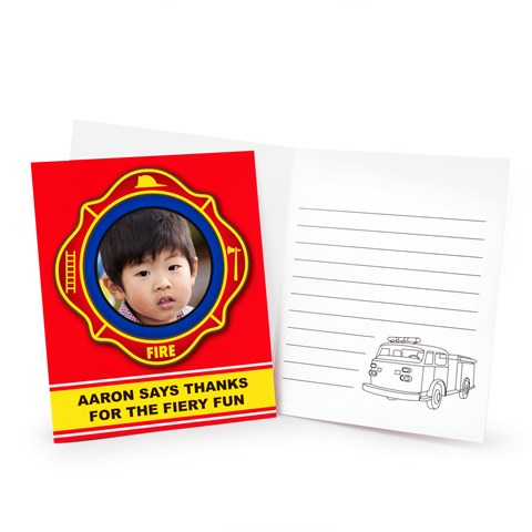 FireTrucks Personalized Thank-You Notes