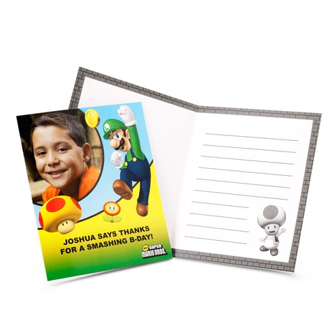 Super Mario Bros. Personalized Thank-You Notes
