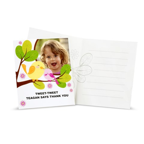 Sweet Tweet Bird Pink - Personalized Thank-You Notes