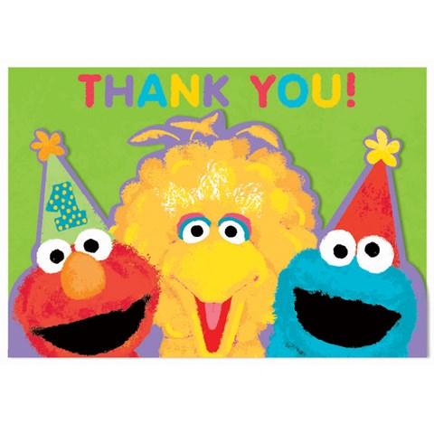 Sesame Street 1st Birthday - Thank-You Notes