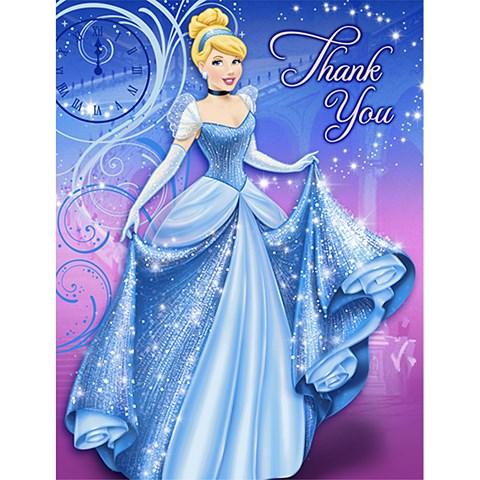 Disney Cinderella Sparkle Thank-You Notes