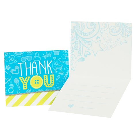 Girls Only Party Thank-You Notes