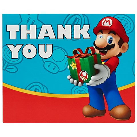 Super Mario Party Thank-You Notes