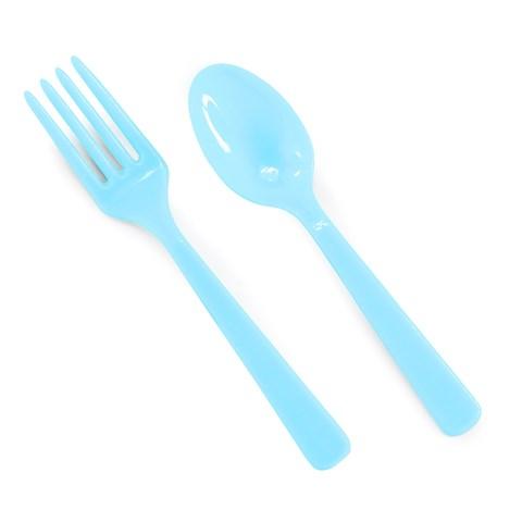 Forks & Spoons - Aqua Blue