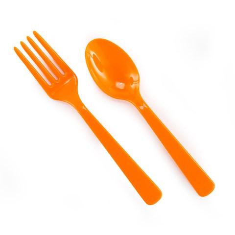 Forks & Spoons - Orange