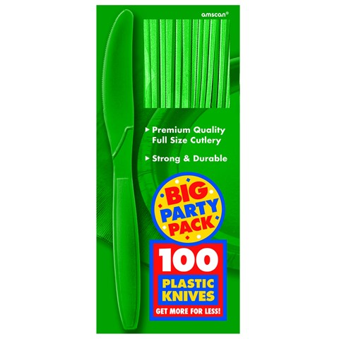 Festive Green Big Party Pack Knives
