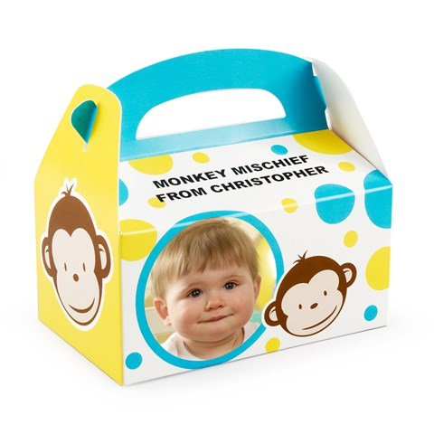 Mod Monkey Personalized Empty Favor Boxes