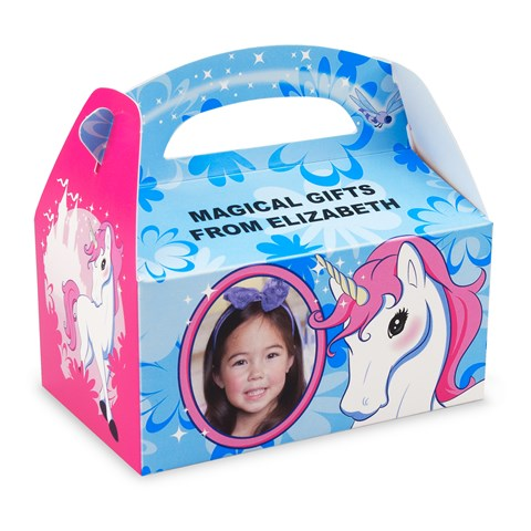 Enchanted Unicorn Personalized Empty Favor Boxes